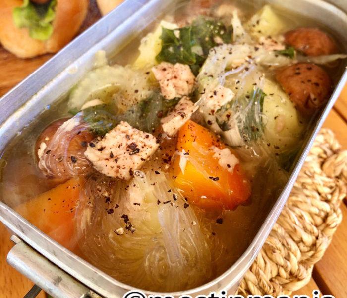 投稿レシピ:ツナと野菜の春雨スープ
