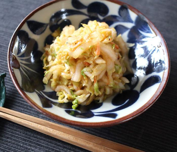 白菜のブイヨンキムチ風