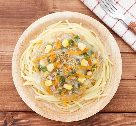 【幼児食】ツナと野菜のあんかけパスタ